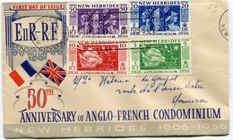 1 Ier Jour émission Du 20/10/1956 Sur Enveloppe Voyagée Arrivée NOUMEA - English Legend