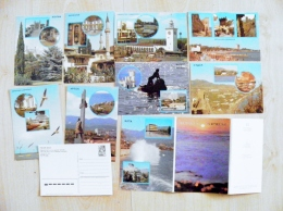 Postal Stationery Cards In Folder From Ussr 10 Crimea Ukraine 1986,01,06 - 1923-1991 USSR