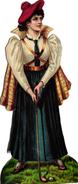 1 Scrap DECOUPIS  Scottish Lady GOLF - Autres