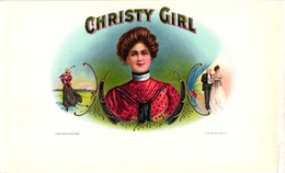 1 TABAC Label Christy Girl Litho Schlegel - Golf
