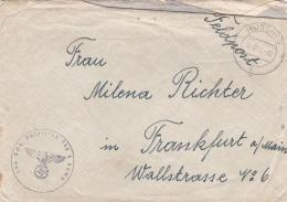 Feldpost WW2: From POW Guard - Landesschützen Bataillon 6/890 In Misslitz Süd-Mähren  P/m Muschau 6.9.1941 - Cover Only. - Militaria