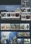 2016 Vaticano, Annata Completa 28 Francobolli, 3 Foglietti 1 Libretto, Tutte Serie Complete Nuove (**) - Vaticano