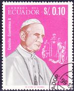 Ecuador - Papst Paul VI. (MiNr. 1242) 1966 - Gest. Used Obl.   !!lesen/read/lire!! - Equateur