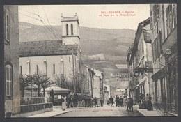 Bellegarde - Eglise Et Rue De La République - L. Michaux Edit. - Voir 2 Scans - Bellegarde-sur-Valserine