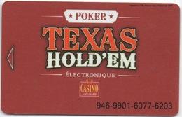 Canada : Casino Lac Leamy : Texas Hold'em Poker Électronique - Casino Cards