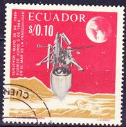 "Ecuador - ""Surveyor 1"", US-Mondfotosonde (MiNr. 1301) 1966 - Gest. Used Obl.   !!lesen/read/lire!! - Ecuador"
