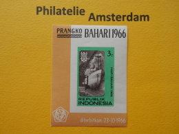 Indonesia 1966, SHIPS BATEAUX SCHEPEN SCHIFFE NAVES: Mi 547, Bl. 6, **