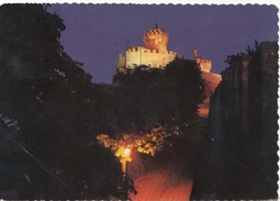 REPUBBLICA DI S. MARINO, Seconda Torre - Notturno, Second Tower At Night, Used Postcard [19649] - San Marino