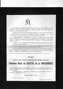 Du Chastel De La Howardries Née Wartelle D'Herlincourt  ° Arras Paris +1910 Wez-Velvain Hainaut Wez Andelot Snoy - Décès