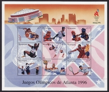 Nicaragua #2175 Sheet Of 9, F-VF Mint NH ** 1996 Atlanta Summer Olympics - Summer 1996: Atlanta