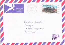 Namibia 1994 Postal Cover Windhoek - Longenthal (Switzerland) - Locomotive - Namibie (1990- ...)