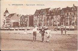 KNOCKE-ZOUTE : Digue Léopold - Hôtel Jacobs - Knokke