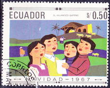 Ecuador - Singende Kinder (MiNr. 1395) 1967 - Gest. Used Obl. - Ecuador
