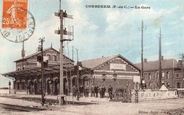 CPA - 62 - CORBEHEM -  La Gare - Passage à Niveau - Sonstige Gemeinden
