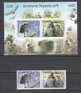 Bangladesh 2012,2V + Block,monkeys,apen,birds,vogels,vögel,oiseaux,pajaros,uccelli,aves,MNH/Postfris,(L3006) - Vogels