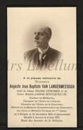 Doodsprentje / Bidprentje / Avis De Décès / Auguste Jean Baptiste Van Langermeersch / Geneesheer / Brugge / 1937 - Décès