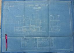 Beau Plan Des Ateliers De Tubize Nivelles Train Locomotive Tender Type 0-4-0 - Chemin De Fer