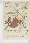 Vasilij Kandinky - Cartolina Invito Alla Mostra Del Bauhaus A Weimar - Riproduzione  Serie De Agostini - Pubblicitari