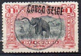 CONGO -COB 36L - 1F SURCH LOCALE L3 - OBL - BB7 - 1894-1923 Mols: Oblitérés