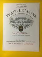 3424 - Château Franc Le Maine Saint-Emilion - Bordeaux