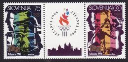 Slovenia #260a Pair, VF Mint NH ** 1996 Atlanta Summer Olympics - Summer 1996: Atlanta