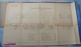 Beau Plan Des Ateliers De Tubize Nivelles Train Locomotive Avec Tender Pour Voie Normale - Chemin De Fer