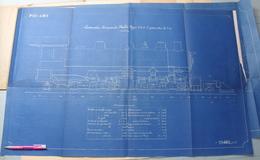Beau Plan Des Ateliers De Tubize Nivelles Train Locomotive Compound Maltet Type 2-6-6-2 - Chemin De Fer
