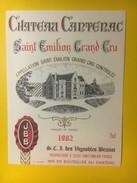 3434 - Château Cantenac 1982 Saint-Emilion - Bordeaux