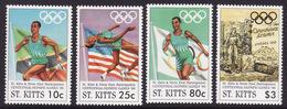 St. Kitts #409-12, VF Mint NH ** 1996 Atlanta Summer Olympics - Summer 1996: Atlanta