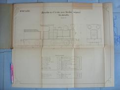 Beau Plan Des Ateliers De Tubize Nivelles Train Locomotive De 10T à Tender Séparé - Chemin De Fer