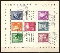 Hongrie Hongarije Ungarn 1938 Yvertn° Bloc 2 (°) Oblitéré Used  Cote 45,00 Euro - Blocs-feuillets