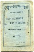 PAMIERS - 09 - Histotique Du 259° Régiment D'Infanterie Pendant La Guerre 1914-1918 - Voir Scan - Documenti Storici