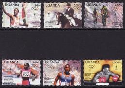 Uganda #1358-63, F-VF Mint NH ** 1996 Atlanta Summer Olympics - Summer 1996: Atlanta