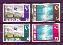 TRISTAN DA CUNHA SERIE 4v 1968 DEPENDENCY OF ST HELENA * FLAG MAP * MNH - Tristan Da Cunha