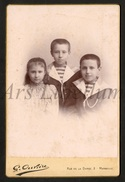 Cabinet Card / Photo De Cabinet / Kabinet Foto / 2 Scans / Children / Enfants / Photo Gustave Ouvière / Marseille - Personnes Identifiées