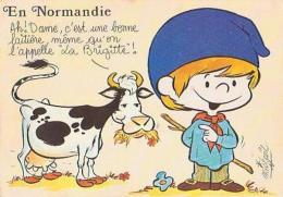 Illustrateur Humour        H136      En Normandie..........la Brigitte ! ( Mickael ) - Illustrateurs & Photographes