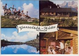PICHL - Reiteralm, Gasselhööh - Hütte, Mehrbild AK - Österreich