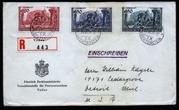 A4535) Liechtenstein R-Brief Von Versandstelle Vaduz 24.6.39 Mit Mi.180-182 - Liechtenstein