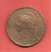 2 Centavos , ARGENTINE , Bronze , 1889 , N° KM # 8 - Argentine