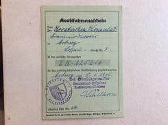 KRAFTFAHRZEUGSCHEIN  MOTOR VEHICLE CERTIFICATE   1945. - Documenti Storici