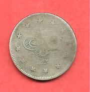 2 Kurush , TURQUIE , Argent , AH 1293 , Year: 27 , N° KM # 736 - Turquie