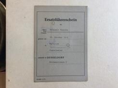 ERSATZFÜHRERSCHEIN STADT DÜSSELDORF  1974. - Documenti Storici