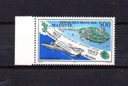 MAY.- PA -  N°12 - 5.00 .  -20° Anniversaire De La 1ère Liaison Aérienne Mayotte - Réunion - Mayotte (1892-2011)