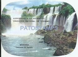 67434 ARGENTINA MISIONES CATARATAS DEL IGUAZU VISTA PARCIAL LUGGAGE NO POSTAL POSTCARD - Ohne Zuordnung