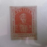 Timbre  Etats  Unis  D Amerique  1853   13C ROUGE  KAMEHAMEHA  III - Hawaï