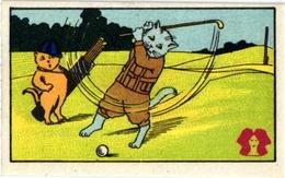 4 CARDS Pub Alpensneeuw Dressed Cats  Valtine  Tapioca De L ETOILE - Trading Cards