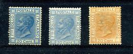 Italie 1867 Victor-Emmanuel II Y&T 23 23a 24 ** Regommés - Nuovi