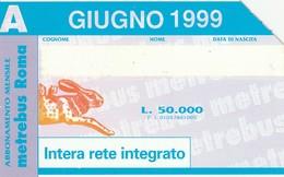 SCHEDA TELEFONICA USATA 1004 BIS GIUGNO 1999 - Italy