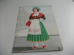 DONNA COSTUMI PITTORICA ILLUSTRATORE COLOMBO COSTUME DELLA LOMBARDIA - Costumes