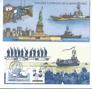 DT 17 - SOUVENIR PHILATELIQUE - 2009 - DERNIERE CAMPAGNE DE LA JEANNE D'ARC  -  2 OBLITERATIONS DIFFÉRENTES (VOIR SCAN) - Mint/Hinged